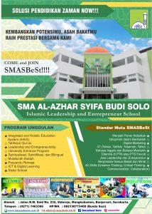 PPDB SMA Al-Azhar Syifa Budi Solo TP 2018/2019